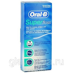 "ЗУБНАЯ НИТЬ ""ORAL-B SUPER FLOSS"", 50 НИТЕЙ"